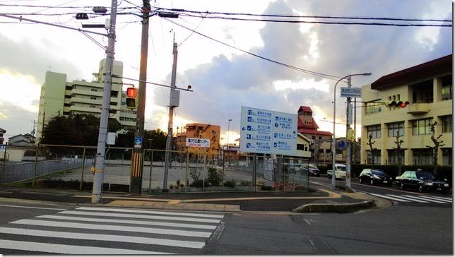 南淡路市街地に入った時の画像
