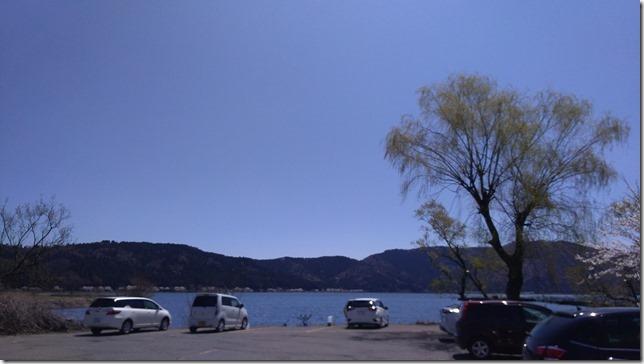 余呉湖駐車場画像