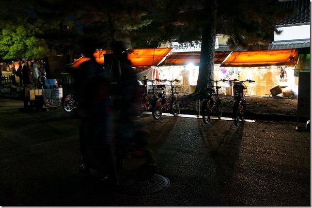 燈花会自転車置き場