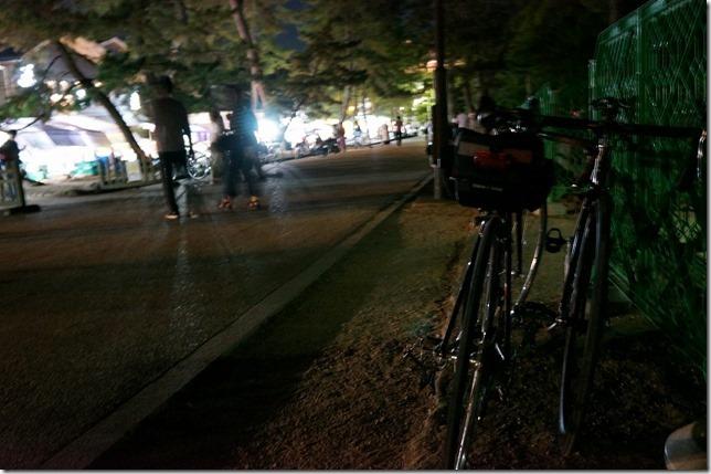 浮雲園地自転車置き場付近