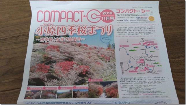 小原四季桜まつりのチラシ画像