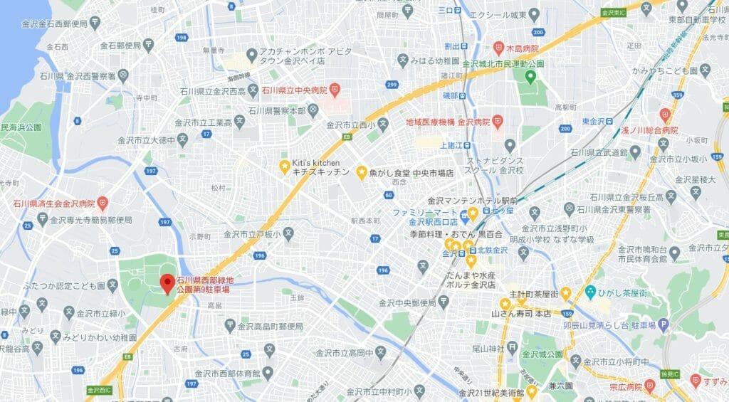 石川県西部緑地公園の場所