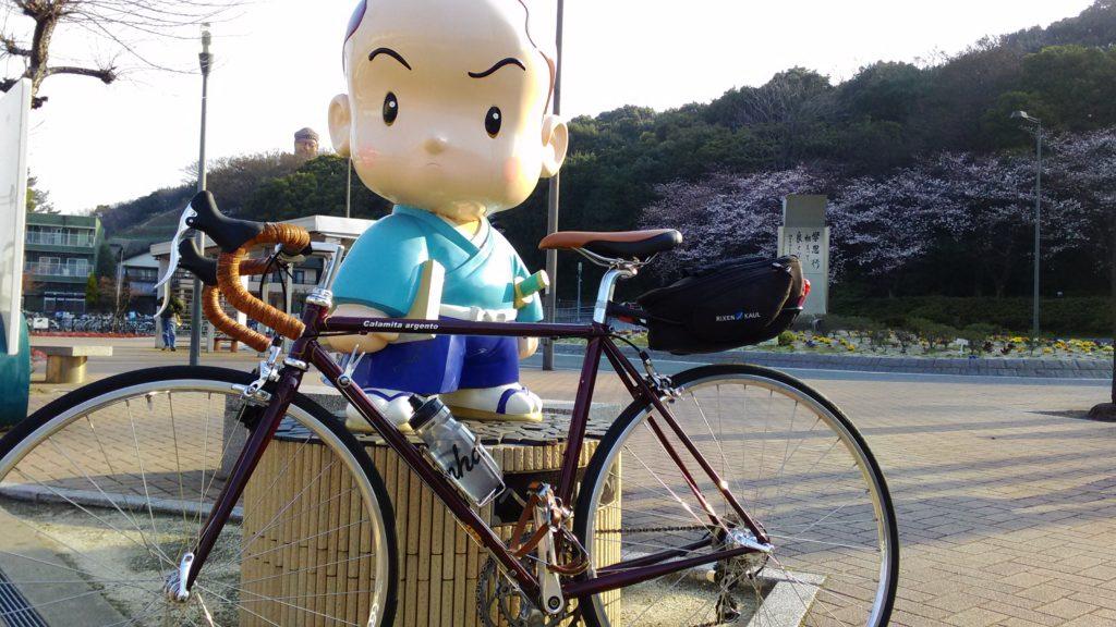 トゥークリップを使った自転車